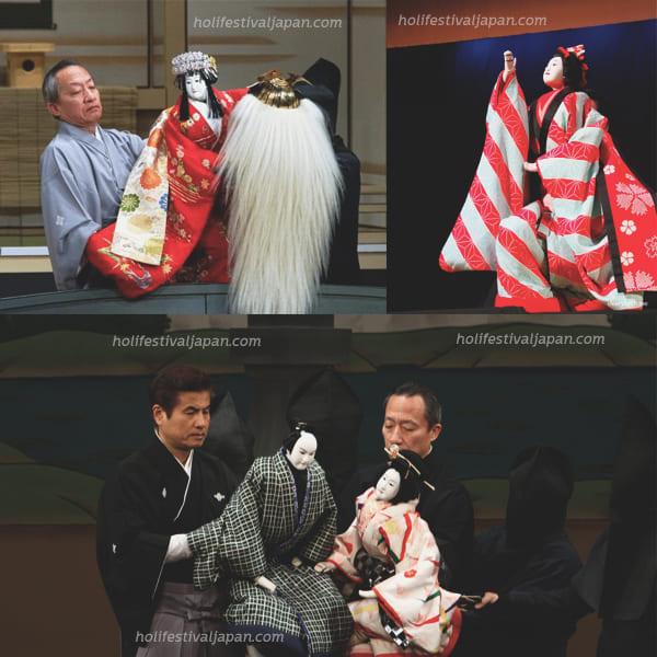 4 - วัฒนธรรมละครหุ่นบุนรากุ (Bunraku) ศิลปะการร่ายรำ วัฒนธรรมศิลปะชั้นสูง