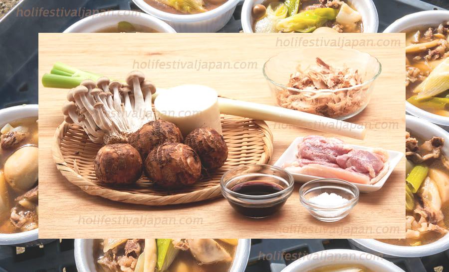 อิโมะนิ3 - อิโมะนิ เมนูอาหารหม้อไฟ ที่มีการใส่เผือกลงไปผสมกับวัตถุดิบต่าง ๆ