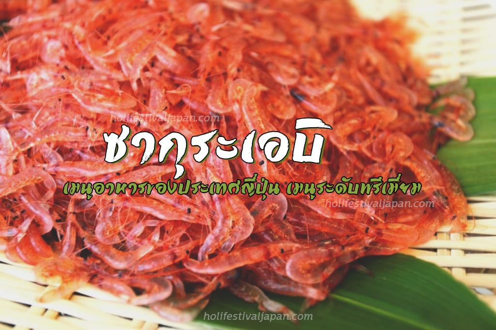 ซากุระเอบิ ลิ้มรสชาติความอร่อย และความสดของกุ้งที่อร่อยเด็ด หาทานได้ยาก